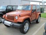 2010 Mango Tango Pearl Jeep Wrangler Sahara 4x4 #33189351