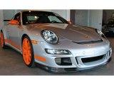 2007 Porsche 911 Arctic Silver Metallic/Orange