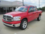 2007 Flame Red Dodge Ram 1500 Big Horn Edition Quad Cab #33236647