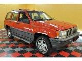 1995 Flame Red Jeep Grand Cherokee Laredo 4x4 #33236696