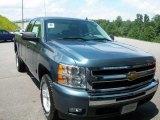 2011 Blue Granite Metallic Chevrolet Silverado 1500 LT Extended Cab 4x4 #33236971