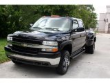 Onyx Black Chevrolet Silverado 3500 in 2002
