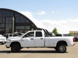 2008 Bright White Dodge Ram 3500 Big Horn Edition Quad Cab 4x4 Dually #33236798