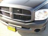 2008 Brilliant Black Crystal Pearl Dodge Ram 1500 ST Quad Cab #33305530