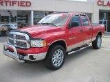 2005 Flame Red Dodge Ram 1500 SLT Quad Cab 4x4 #33305728