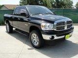 2008 Brilliant Black Crystal Pearl Dodge Ram 1500 Lone Star Edition Quad Cab 4x4 #33305616
