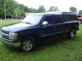 2000 Indigo Blue Metallic Chevrolet Silverado 1500 LS Extended Cab 4x4 #33329306