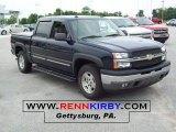 2005 Dark Blue Metallic Chevrolet Silverado 1500 Z71 Crew Cab 4x4 #33329015