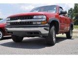 2001 Victory Red Chevrolet Silverado 1500 LS Regular Cab 4x4 #33328681