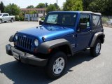 2010 Deep Water Blue Pearl Jeep Wrangler Sport 4x4 #33329505