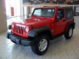 2010 Flame Red Jeep Wrangler Sport Islander Edition 4x4 #33329509