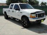 2000 Oxford White Ford F250 Super Duty XLT Crew Cab 4x4 #33328722