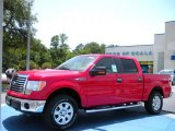2010 Vermillion Red Ford F150 XLT SuperCrew 4x4 #33328395