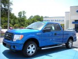 2010 Blue Flame Metallic Ford F150 STX SuperCab #33328413
