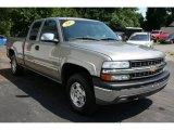 2002 Light Pewter Metallic Chevrolet Silverado 1500 LS Extended Cab 4x4 #33329597