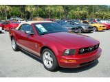2007 Redfire Metallic Ford Mustang V6 Deluxe Convertible #33328788