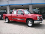 2004 Victory Red Chevrolet Silverado 1500 LS Extended Cab 4x4 #33328437