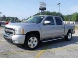 2010 Sheer Silver Metallic Chevrolet Silverado 1500 LT Crew Cab #33438997