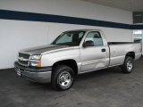 2004 Silver Birch Metallic Chevrolet Silverado 1500 LS Regular Cab 4x4 #33439053