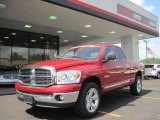 2008 Inferno Red Crystal Pearl Dodge Ram 1500 Lone Star Edition Quad Cab #33439105