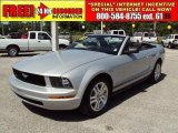 2007 Satin Silver Metallic Ford Mustang V6 Deluxe Convertible #33439457