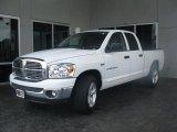 2007 Bright White Dodge Ram 1500 SLT Quad Cab #33438699