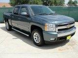 2008 Blue Granite Metallic Chevrolet Silverado 1500 LT Crew Cab #33438967
