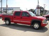 2005 Fire Red GMC Sierra 1500 SLT Crew Cab 4x4 #33496358
