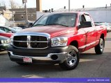 2008 Inferno Red Crystal Pearl Dodge Ram 1500 SXT Quad Cab #33496547