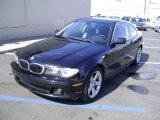 2004 Jet Black BMW 3 Series 325i Coupe #3348034