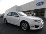 2010 White Platinum Tri-coat Metallic Ford Fusion SEL V6 #33495868