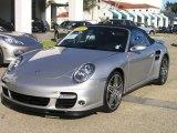 2008 Arctic Silver Metallic Porsche 911 Turbo Cabriolet #33538750