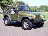 1997 Jeep Wrangler Citron Pearl