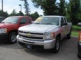2010 Sheer Silver Metallic Chevrolet Silverado 1500 LS Extended Cab 4x4 #33549142