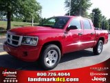 2010 Flame Red Dodge Dakota Big Horn Crew Cab #33548678