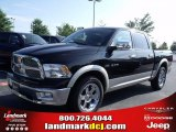 2010 Brilliant Black Crystal Pearl Dodge Ram 1500 Laramie Crew Cab #33548679