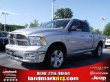 2010 Bright Silver Metallic Dodge Ram 1500 Big Horn Quad Cab #33548680