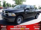 2010 Brilliant Black Crystal Pearl Dodge Ram 1500 ST Quad Cab #33548687