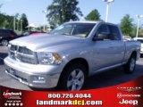 2010 Bright Silver Metallic Dodge Ram 1500 Big Horn Quad Cab #33548689