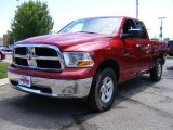 2009 Inferno Red Crystal Pearl Dodge Ram 1500 SLT Quad Cab 4x4 #33548472