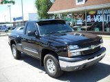 2004 Black Chevrolet Silverado 1500 Z71 Regular Cab 4x4 #33548791