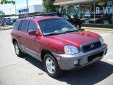 2004 Merlot Red Hyundai Santa Fe GLS 4WD #33548794