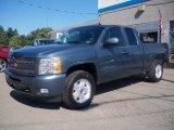 2010 Blue Granite Metallic Chevrolet Silverado 1500 LT Extended Cab 4x4 #33548585