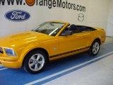 2007 Grabber Orange Ford Mustang V6 Deluxe Convertible #33606139