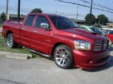 2006 Inferno Red Crystal Pearl Dodge Ram 1500 SRT-10 Quad Cab #33606461