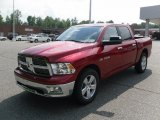 2010 Inferno Red Crystal Pearl Dodge Ram 1500 Big Horn Crew Cab #33606751
