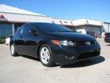 2007 Nighthawk Black Pearl Honda Civic EX Coupe #3341335