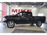 2010 Brilliant Black Crystal Pearl Dodge Ram 1500 Big Horn Quad Cab 4x4 #33673449