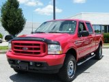 2003 Red Clearcoat Ford F250 Super Duty Lariat Crew Cab 4x4 #33673210