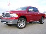 2009 Inferno Red Crystal Pearl Dodge Ram 1500 Laramie Crew Cab 4x4 #3339390